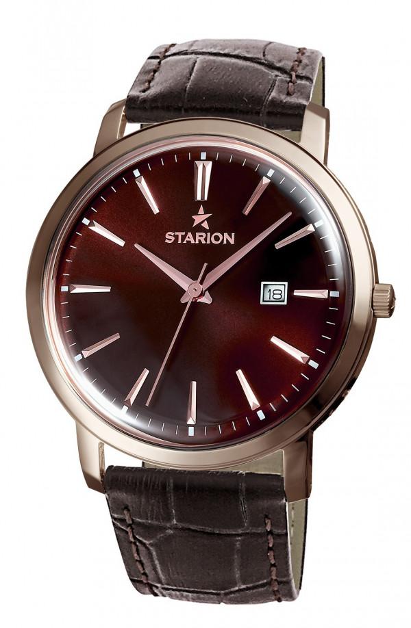 Годинник чоловічий STARION A570 Gents R/Brown коричневий рем.