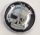 Емблема капота і багажника BMW Skull череп 74mm, фото 1