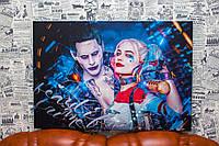 "Картина на холсте ""Харли Квинн. Harley Quinn. Джокер.Joker"" 60х40 см."