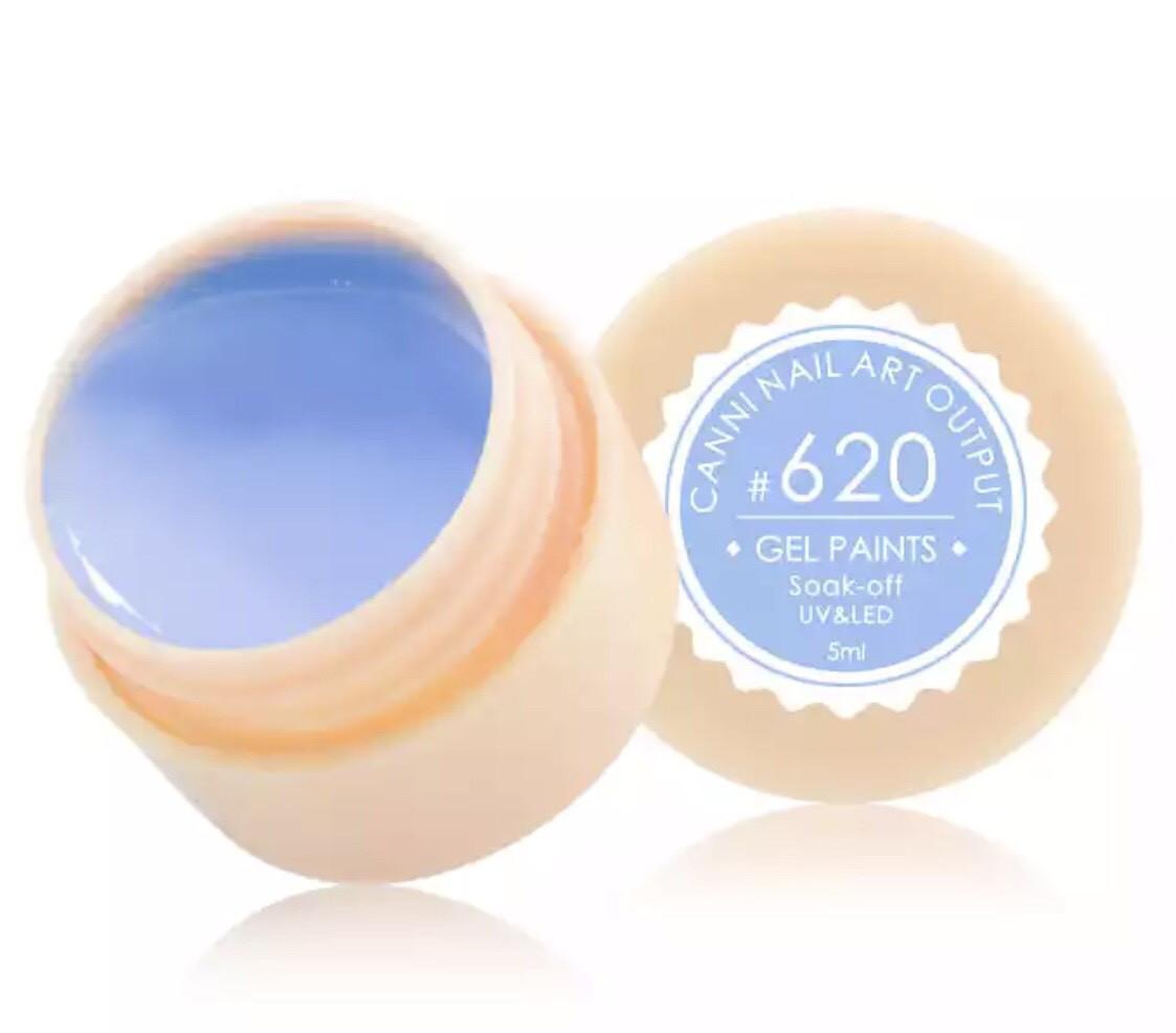Гель-краска CANNI 620 (пастельно-голубой), 5 мл