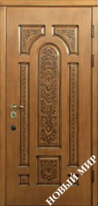 """Входные двери для наружного применения """"Новосел C 7.6 Vinorit"""" Русь (MDF) 2070х970х125мм"""