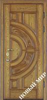 """Дубовые входные двери """"Рассвет"""" (Дуб/Дуб) 2070х970х125 мм"""