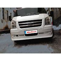 Ford Transit 2001-2014 гг. Накладка на передний бампер (DRL, с решеткой)