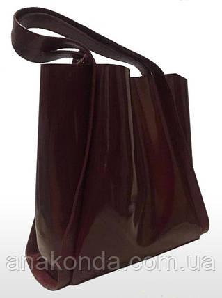 156 Натуральная кожа, Сумка женская бордовая марсала Сумка шоппер бордовая Сумка шоппер кожаная Сумка Глянец, фото 2