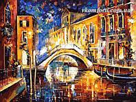 Рисование по номерам Ночь в Венеции худ. Афремов, Леонид (VP065) 40 х 50 см, фото 1