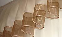 Ламбрекен Дуга 3м  коричневый, песочный, фото 1