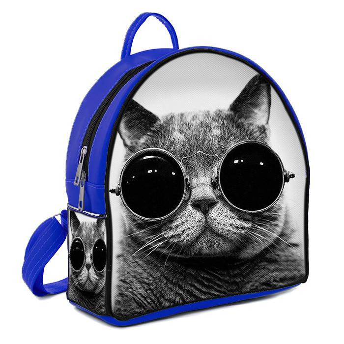 Рюкзак Moderika Arco синий с рисунком Кот (77761)
