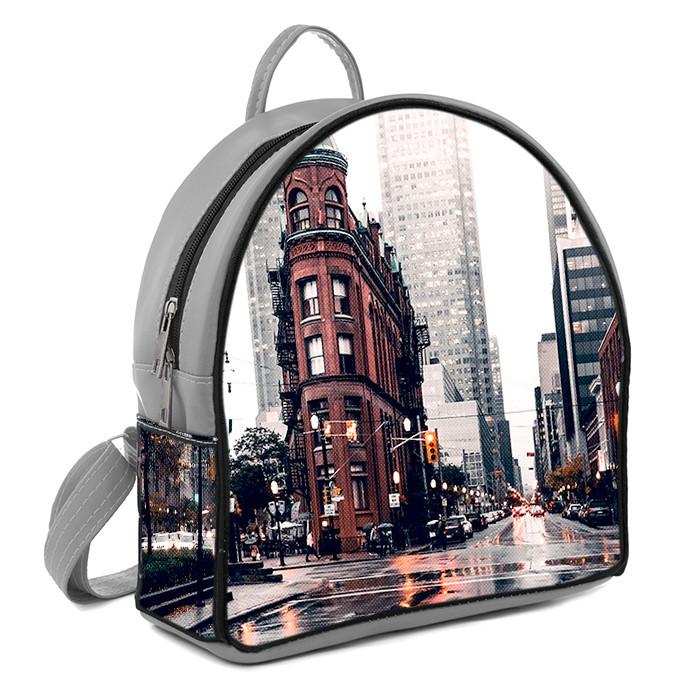 Рюкзак Moderika Arco серый с рисунком Город (77758)