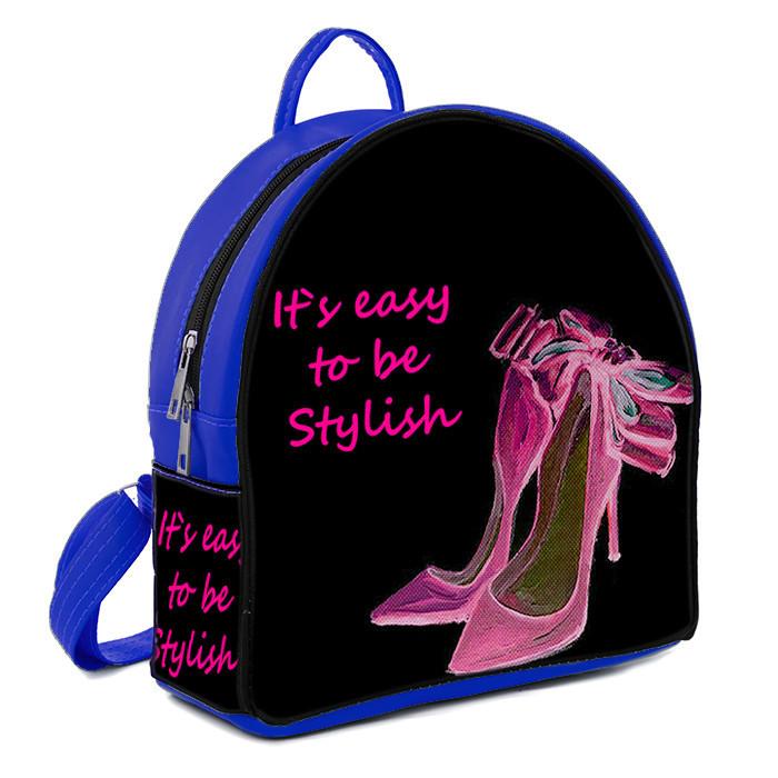 Рюкзак Moderika Arco синий с рисунком Розовые туфли (77756)