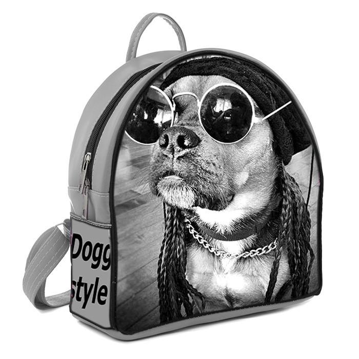 Рюкзак Moderika Arco серый с рисунком Собака в очках (77783)