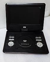 """Автомобільний портативний DVD плеєр NS-1129 Opera 13.8""""  з акумулятором USB + TV, фото 3"""