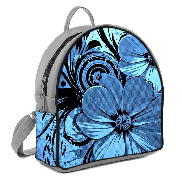 Рюкзак Moderika Arco серый с рисунком Цветочек нежный (77884)