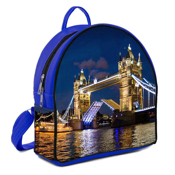 Рюкзак Moderika Arco синий с рисунком Тауэрский мост (77993)