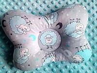 """Ортопедична подушка """"Метелик"""" (веселі овечки). Ортопедическая подушка """"Бабочка"""" для новорожденных"""