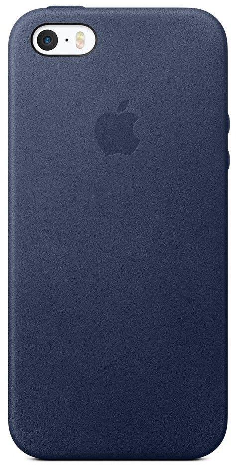Чехол-накладка Apple Leather Case iPhone 5/5s/SE Royal blue