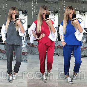 Женский костюм - двойка из двунитки № 472, фото 2