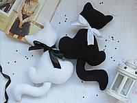 Мягкая игрушка-подушка кот, интерьерная подушка ручной работы