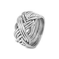 Серебреное мужское кольцо головоломка от Wickerring