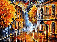 Рисование по номерам Осенний дождь худ. Афремов, Леонид (VP074) 40 х 50 см, фото 1