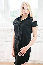 Женское стрейчевое платье-рубашка  №263, фото 3