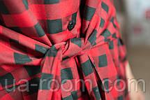 Женское платье из хлопка в клетку №261, фото 2