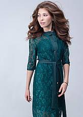 Женское платье с гипюровой накидкой №440, фото 3