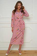 Женское платье-рубашка c вышивкой (хлопок)  №476, фото 2