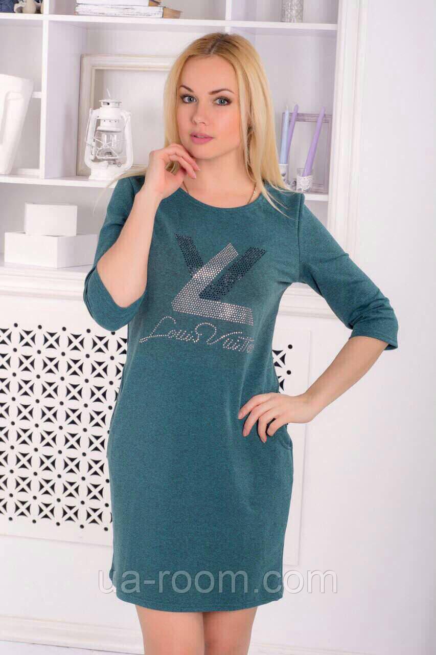 Женское платье из хлопка LV
