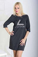 Женское платье из хлопка LV , фото 2