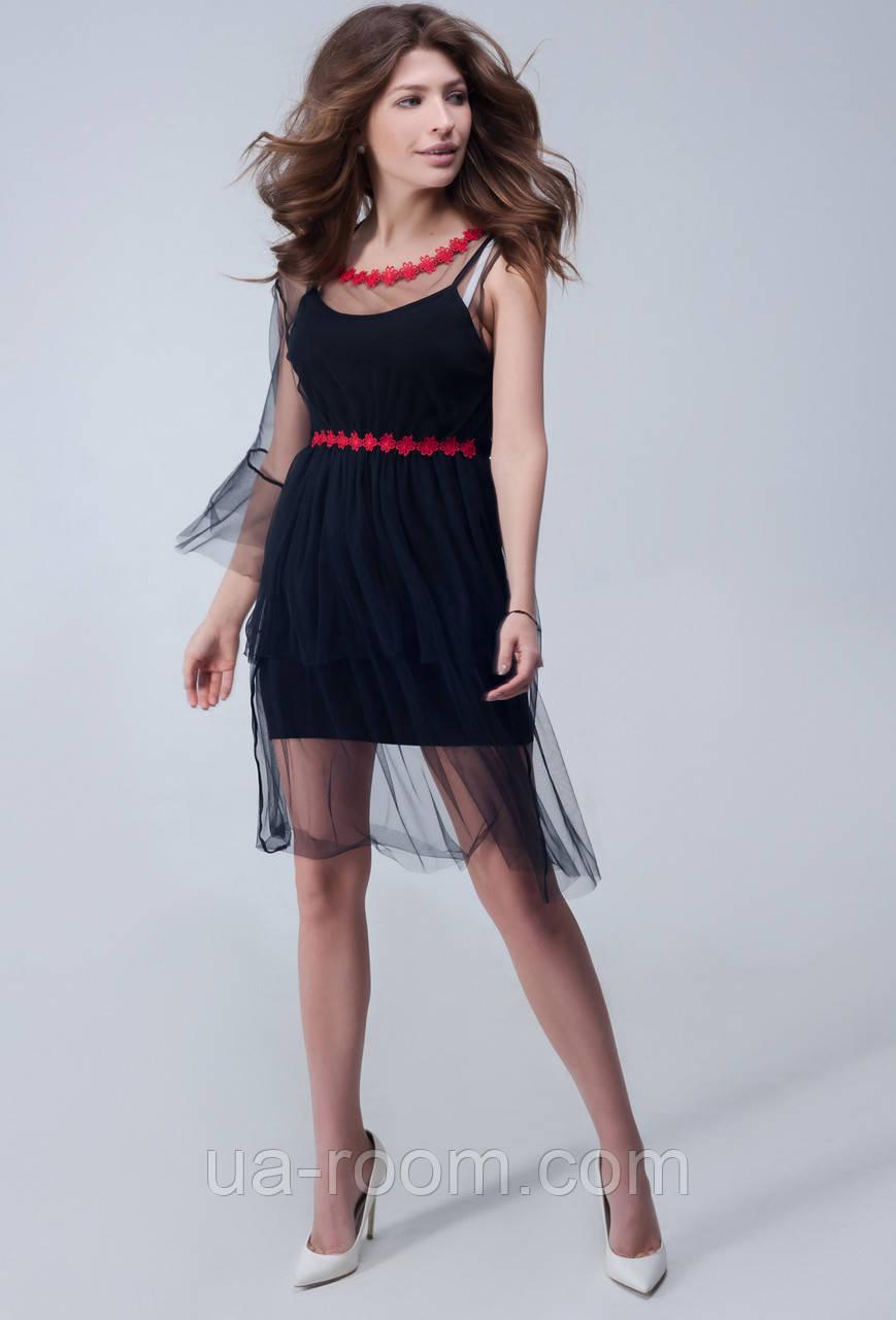 Женское платье микромасло +сетка №272