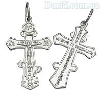 Серебряный крестик спаси и сохрани 1018кр