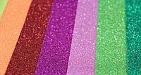 Фоамиран (ФОМ) иранский 20 см x 30 см, толщина 2 мм, глиттерный с блестками