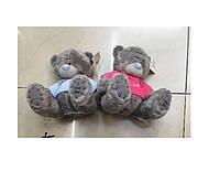 Мишки MI0014t15 мишка 15 см. 2 вида в одежде: роз, голуб, в пакете
