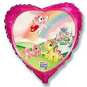 """Фольгированные шары с рисунком 18"""" Пони на радуге FlexMetal"""
