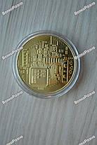 Сувенирная монета Bitcoin. Сувенирная монета Биткоин золотистого цвета., фото 2