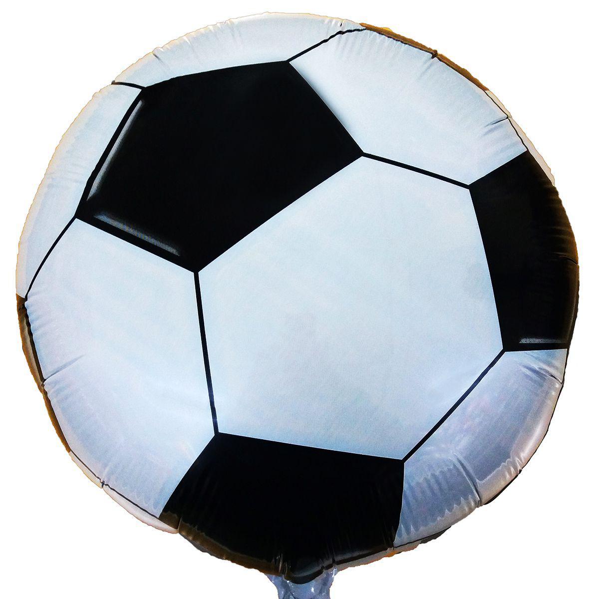 """Фольгированные шары с рисунком 18"""" Футбольный мяч FlexMetal"""