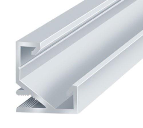 Профиль алюминиевый LED угловой ЛПУ17 17х17мм, анодированный, цвет - серебро.