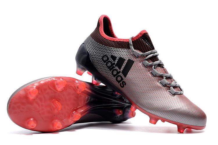 92afb342 Футбольные бутсы adidas X 17.1 FG Clear Grey/Core Black/Shock Pink -  Интернет