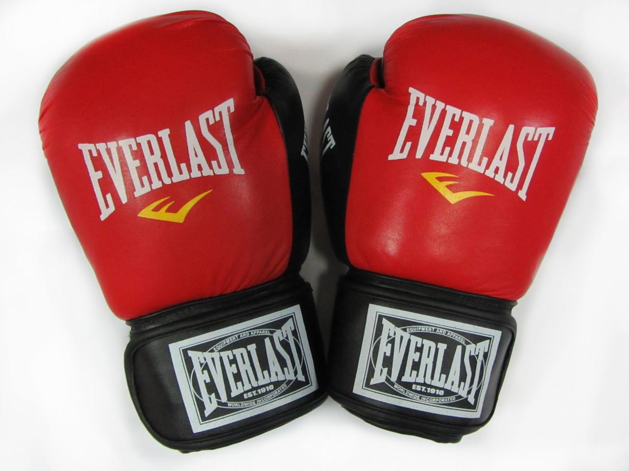 Боксерские перчатки Everlast кожа 12oz