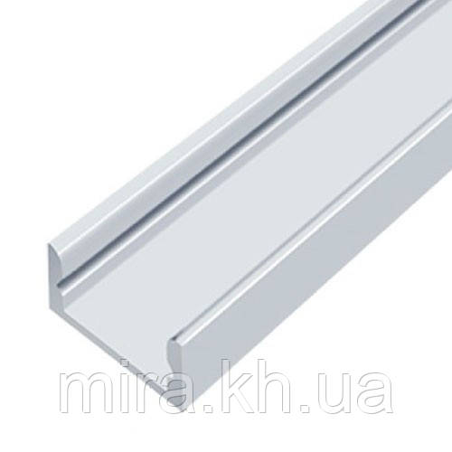 Профиль алюминиевый LED ЛП7 7х16мм, анодированный, цвет - серебро. (палка 2м)