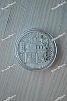 Сувенирная монета Bitcoin Серебристая. Биткоин, фото 3
