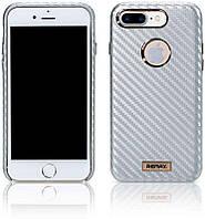 Чехол-накладка Remax Carbon Series Case for iPhone 7 Plus Silver