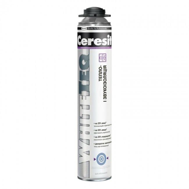 Монтажная пена Ceresit Whiteteq профессиональная (под пистолет) 750 мл