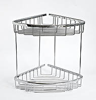 Полка для ванной двойная 22 x 22 см, фото 1