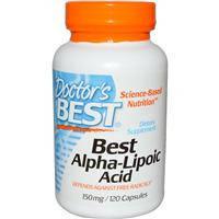 Альфа - липоевая кислота 150 мг 120 капс антиоксиданты гепатопротекторы Doctor's Best USA