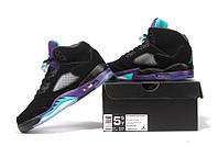 Женские баскетбольные кроссовки Air Jordan Retro 5 (Black Grape), фото 1