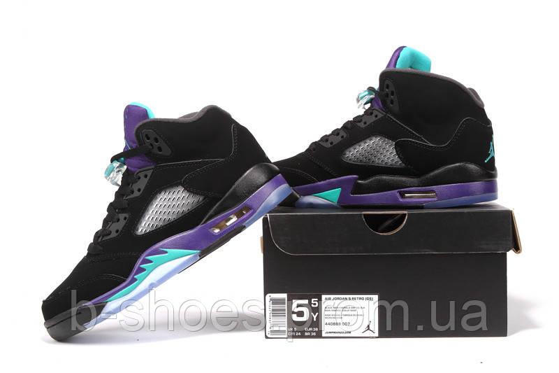 Женские баскетбольные кроссовки Air Jordan Retro 5 (Black Grape ... a8dcff43d7d