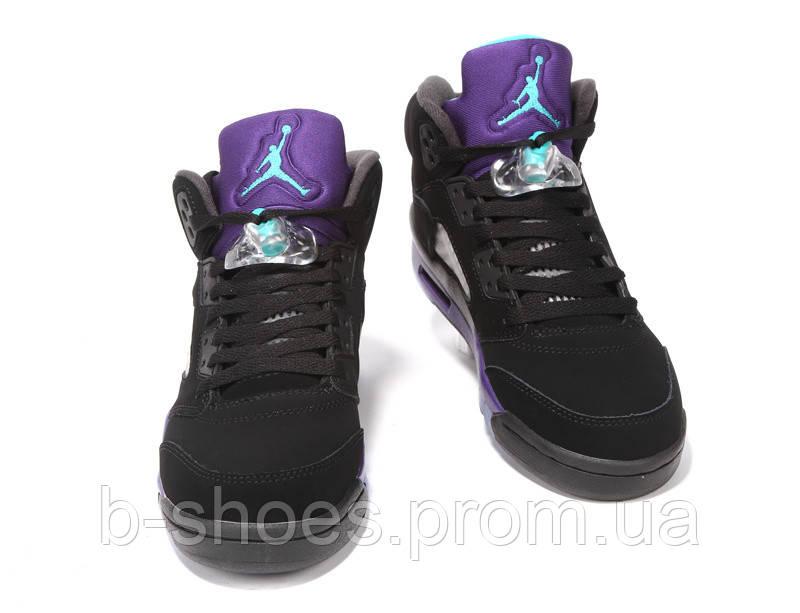 d44c68b0 ... Женские баскетбольные кроссовки Air Jordan Retro 5 (Black Grape), ...