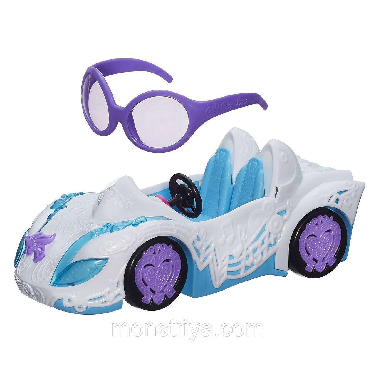Большая машина  My Little Pony DJ Pon 3's Rockin Convertible .Автомобиль для кукол пони диджея и очки