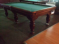 Бильярдный стол 9футов Американка, Ардезия, натуральное дерево, с лузами Олхаузен, Реставрация бортов